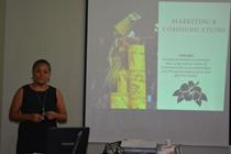 Susana Perez delivering her presentation