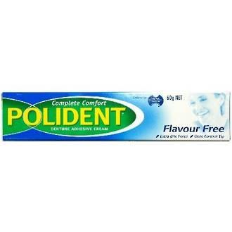 Polident Denture Adhesive Cream Flavour Free