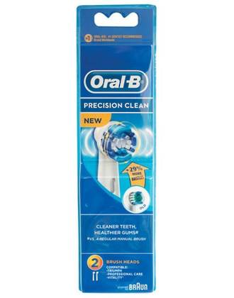 Oral-B Precision Clean (Flexisoft) Toothbrush Heads (2 pack) - Bulk Buy 3 Packs