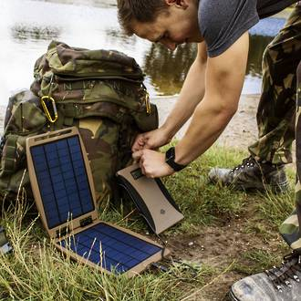 Powertraveller Tactical Soargorilla Solar Charger / Panel, Olive Green - SG002-TAC