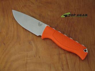 Benchmade Steep Country Hunter Knife, Orange Handle - 15006