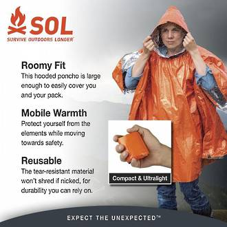 Adventure Medical Kits SOL Heat Reflective Survival Poncho - 4140-6001