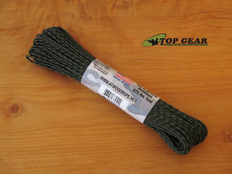 Atwood Rope Manufacturing 4 Strand Tactical Cord, 275 lbs test, Woodland Camo - 33251