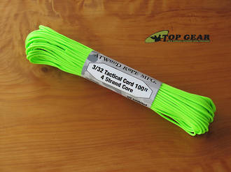 Atwood Rope Manufacturing 4 Strand Tactical Cord 275 lbs test, Neon Green - 33219