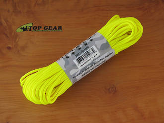 Atwood Rope Manufacturing 550 Paracord Rope, Neon Yellow - 55077