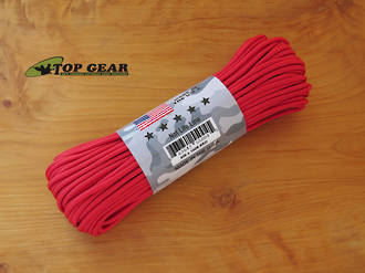 Atwoord Rope Manufacturing 550 Paracord Rope, Red - 55004