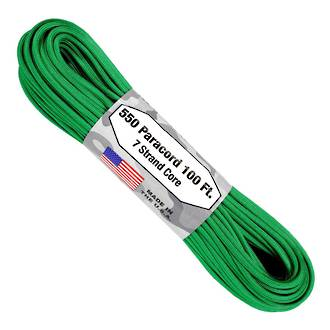 Atwood Rope Manufacturing 550 Paracord Rope, Green 55080