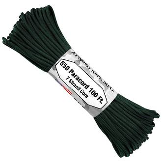 Atwood Rope Manufacturing 550 Paracord Rope, Hunter Green 55095