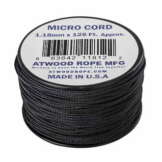 Atwood Rope Manufacturing Micro Cord, 125 ft Roll, Black - 11889