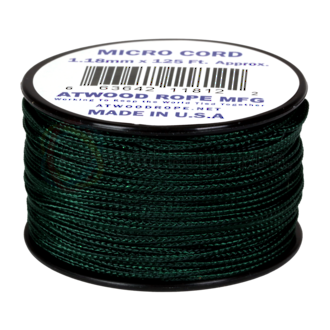 Atwood Rope Manufacturing Micro Cord, 125 ft Roll, Hunter - 11861