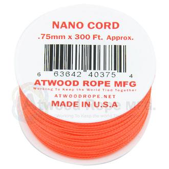 Atwood Rope Manufacturing Nano Cord - Neon Orange 40018