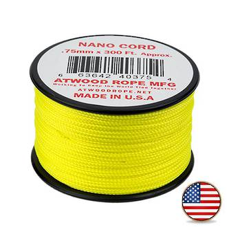 Atwood Rope Manufacturing Nano Cord - Neon Yellow 40375