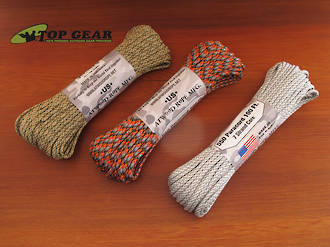 Atwood Rope Manufacturing Paracord 550 Rope, 30 Metre Pack - 3 Colours