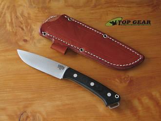 Bark River Fox River Hunter Knife, A2 Tool Steel, Black Micarta Handle - 01-113M-BC