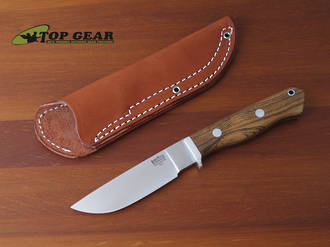 Bark River Gameskeeper Knife, A-2 Tool Steel, Bocote Wood Handle