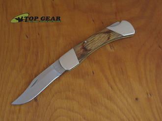 Bear & Son Cutlery 3.75 Inch Oak Wood Lockback Knife Oak - 205