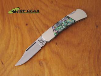 "Bear and Son 3"" Executive Lockback Knife – Abalone Handle AB26"