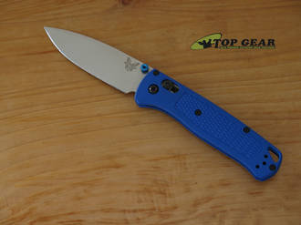 Benchmade Bugout Folding Knife, S30V Stainless Steel, Blue Handle - 535