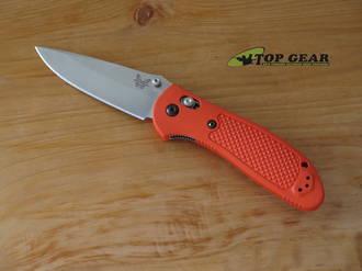 Benchmade Griptilian Knife, Drop-Point, CPM-S30V Stainless Steel, Orange Handle, Satin Finish - 551-ORG