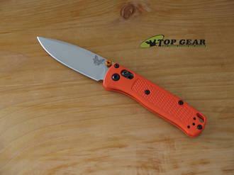 Benchmade Mini Bugout Folding Knife, S30V Stainless Steel, Orange Handle - 533