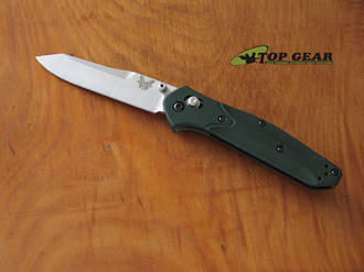 Benchmade Osborne 940 Folding Knife, CPM S30V Stainless Steel, Green Anodised Aluminium Handle - 940