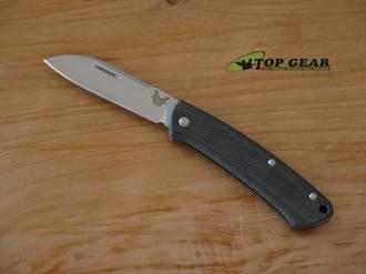 Benchmade Proper Pocket Knife, CPM-S30V Stainless Steel, Micarta Handle - 319