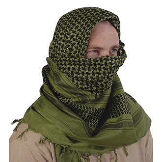 Best Glide Military Shemagh/Tactical Scarf, Olive Green Black - CW1318OB/BG