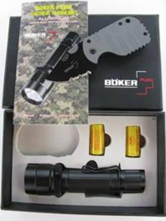 Boker Plus LED Torch and Subcom Folder Knife Set - 09BO100