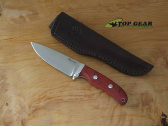 Boker Savannah Cocobolo Hunting Knife, Bohler N690 Stainless Steel, Cocobolo Wood - 120320