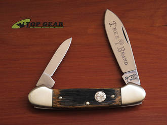 Boker Classic Beer Barrel Canoe Knife - Wood Handle 110200BBL