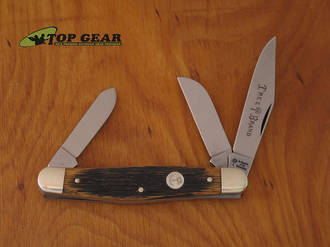 Boker Classic Beer Barrel Stockman Pocket Knife with Wooden Handle 117474BBL