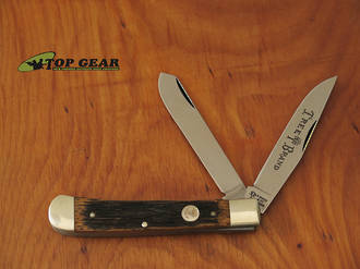 Boker Classic Beer Barrel Trapper Pocket Knife with Wood Handle - 112525BBL