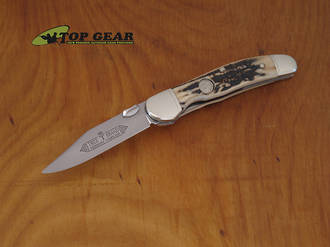 Boker Classic Copperliner Pocket Knife with Stag Handle - 114610