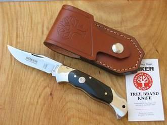Boker Classic Lockback Hunter Knife with Buffalo Horn Handle - 112007
