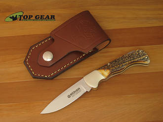 Boker Classic Lockback Hunter Knife with Stag Handle - 110135HH