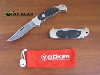 Boker Classic Folding Hunter Lockback Knife - Jigged Bone Handle 112002JBB