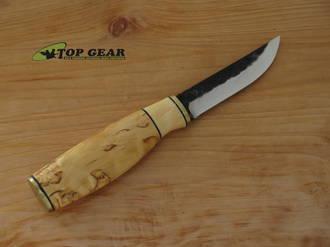 Brisa Polar Pukko Knife, 80CrV2 Carbon Steel, Curly Birch Handle - 24154