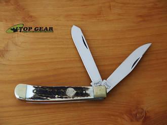 Buck Creek Trapper Pocket Knife - Ebony Wood Handle BC-254 DS