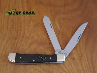 Buck Creek Trapper Pocket Knife, Ebony Wood Handle - BC-254EB