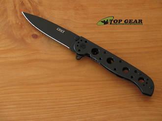 CRKT M16-03KS Folding Spear-Point Knife, Aluminium Handle, Razor Edge, Black