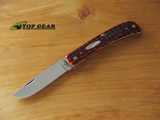 W.R. Case Sod Buster Jr Pocket Knife - Jigged Chestnut Bone Handle 07014