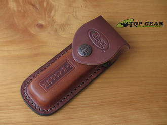 Case Cutlery Trapper Leather Knife Pouch, Brown - 9027