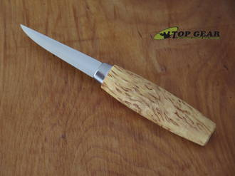 Casström No. 08 Classic Wood Carving Knife, Carbon Steel, Curly Birch Handle - 15002