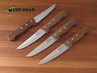 Chicago Cutlery 4-Piece Basics Steak Knife Set with Walnut Handle - 1043898