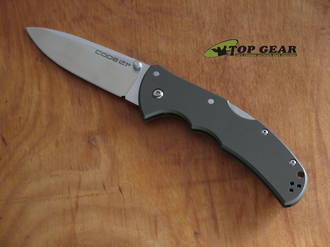 Cold Steel Code 4 Folding Spear Point Knife, S35VN Stainless Steel, Gun Metal Gray Aluminium Handle - 58PS