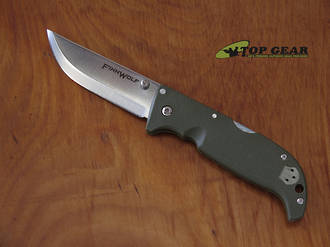 Cold Steel Finn Wolf Pukko Folding Knife, Olive Green - 20NPF
