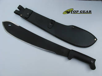 Condor Ultra-Black Bolo Machete with Leather Sheath - CTK227-15HC