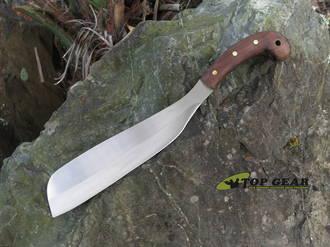 Condor Village Parang Machete, 420HC StainlessSteel, Walnut Wood Handle, Leather Sheath - CTK419-12SS