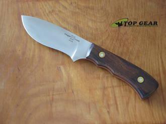 Cougar Creek Deep Belly Skinner Knife, ATS-34 Stainless Steel, Desert Ironwood Handle - CCTFCC2