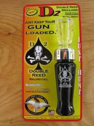 Cutt Down Game Calls Double Reed Duck Call D2 Bad To The Bone - Acrylic